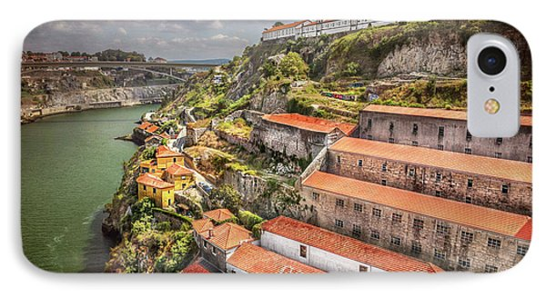 Red Roofs Of Porto IPhone Case by Carol Japp