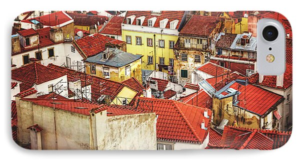 Red Rooftops Of Old Alfama Lisbon  IPhone Case