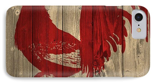 Red Rooster Barn Door IPhone Case by Dan Sproul