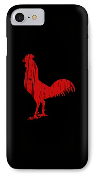 Red Rooster Tee IPhone Case by Edward Fielding