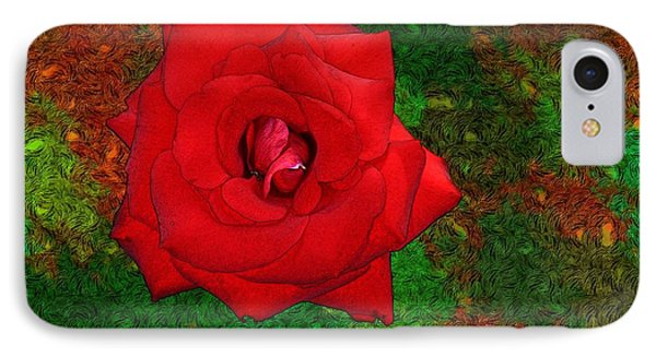 Red Rose 2 Phone Case by Jean Bernard Roussilhe
