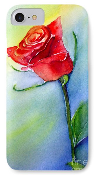 Red Rose IPhone Case by Allison Ashton