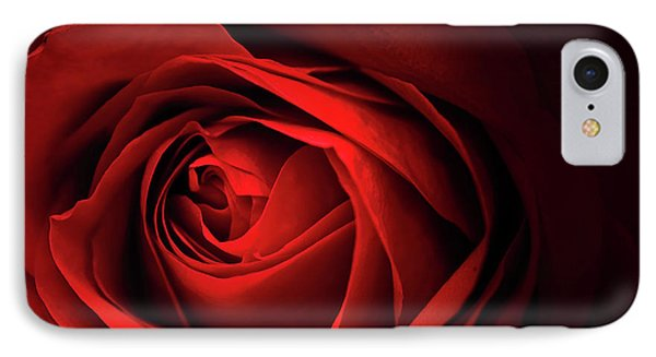 Red Rose Close IPhone Case by Charline Xia