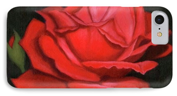 Red Rose IPhone Case by Janet King