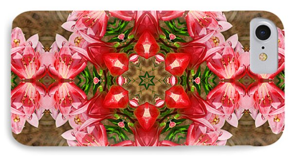 IPhone Case featuring the photograph Red Rose Kaleidoscope by Bill Barber