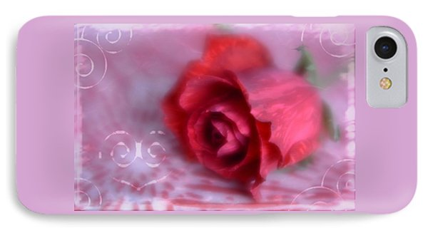 IPhone Case featuring the photograph Red Rose Love by Diane Alexander