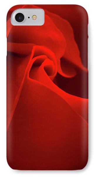 Red Rose Macro IPhone Case by Wim Lanclus