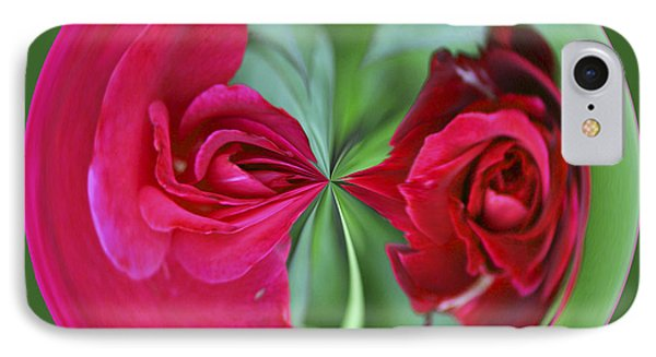 IPhone Case featuring the photograph Red Rose Orb by Bill Barber