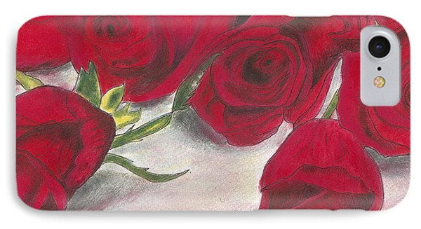 Red Rose Redux IPhone Case by Arlene Crafton