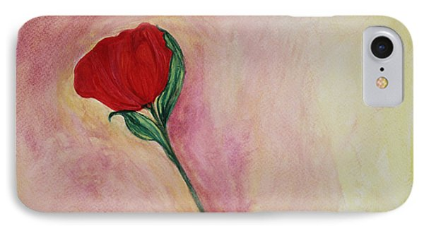 Red Rose IPhone Case by The Art Of Marilyn Ridoutt-Greene