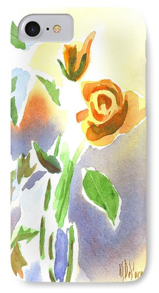IPhone Case featuring the painting Red Roses With Holly In A Vase by Kip DeVore