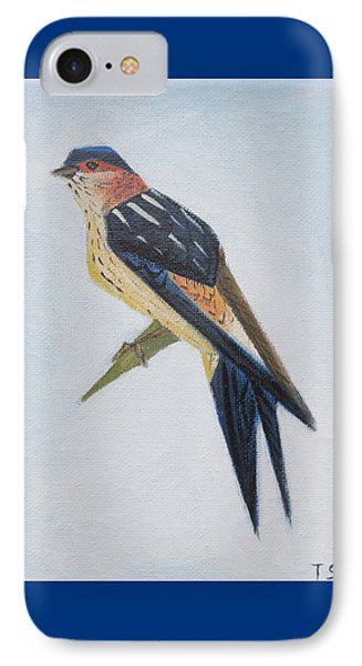 Red-rumped Swallow IPhone Case by Tamara Savchenko