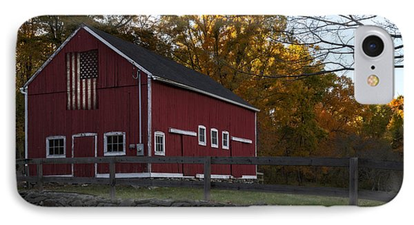 Red Rustic Barn IPhone Case by Susan Candelario