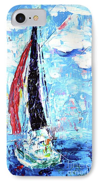 Red Sail Phone Case by Lynda Cookson