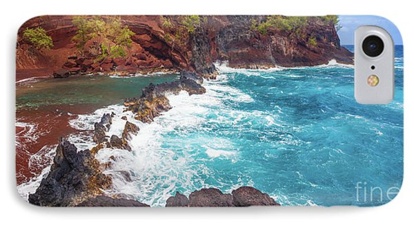 Red Sand Beach Panorama IPhone Case