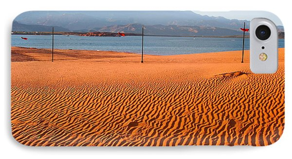 Red Sand Waves IPhone Case