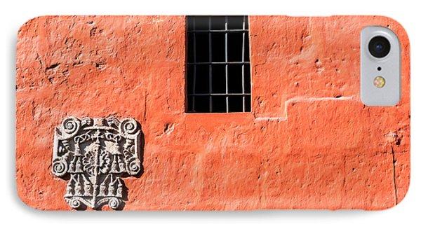 Red Santa Catalina Monastery Wall IPhone Case