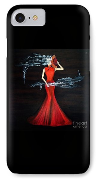 Scented Red Color IPhone Case by Fei A