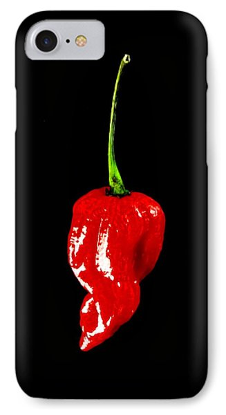 Red Scorpion Chilli Pepper IPhone Case by Michael Canning