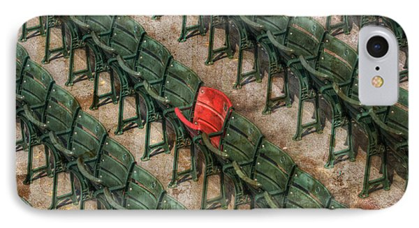 Red Seat At Fenway Park - Boston IPhone Case by Joann Vitali