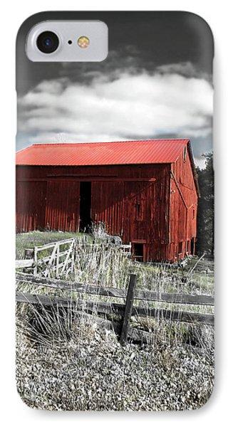 Red Shack Landscape Phone Case by Joan  Minchak