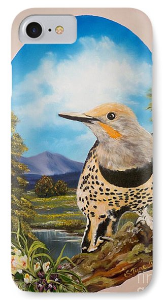 Red Shafted Flicker IPhone Case