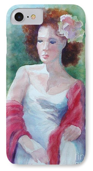 Red Shawl Phone Case by Marilyn Jacobson