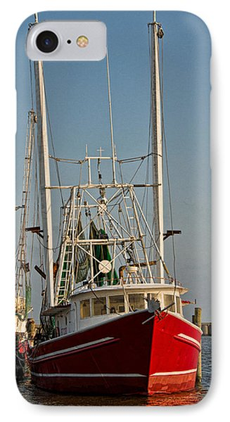 Red Shrimp Boat Phone Case by Christopher Holmes