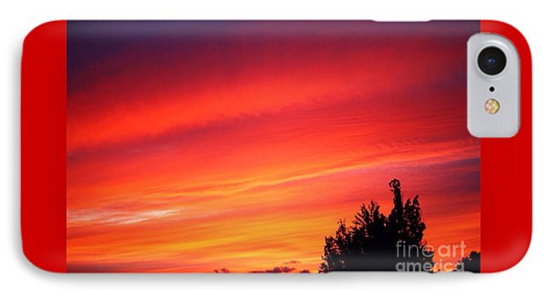 IPhone Case featuring the photograph Red Skies At Night  by Nick Gustafson