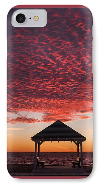 Red Sky At Night Gazebo Seaside New Jersey IPhone Case by Terry DeLuco