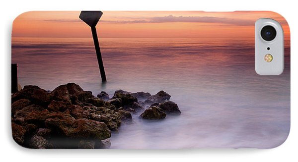 Red Sky Caution IPhone Case by Mike  Dawson