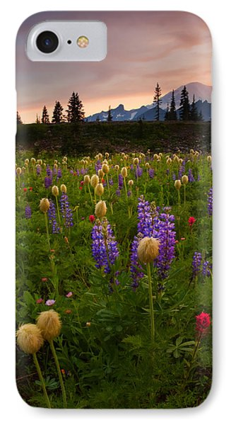 Red Sky Meadow Phone Case by Mike  Dawson
