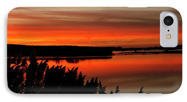 Red Sky On The Illinois River IPhone Case
