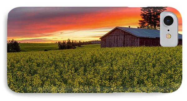Red Sky Over Canola IPhone Case