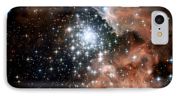 Red Smoke Star Cluster IPhone Case