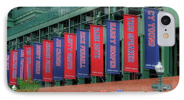 Red Sox Hall Of Fame Banners - Fenway Park IPhone Case by Joann Vitali