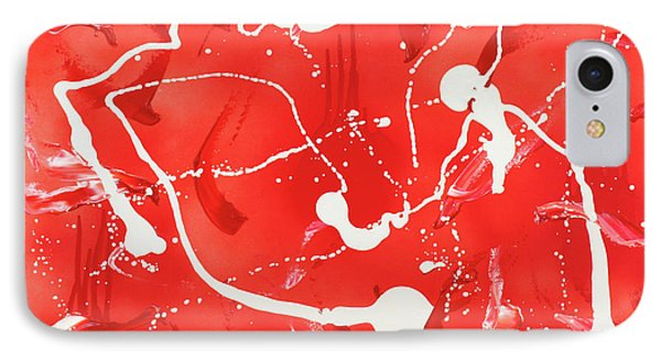 IPhone Case featuring the painting Red Spill by Thomas Blood