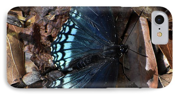 IPhone Case featuring the photograph Red Spotted Purple Admiral by Skip Willits