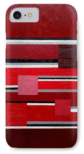 Red Square IPhone Case by Tara Hutton