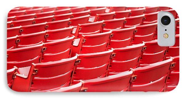 Red Stadium Seats IPhone Case by Paul Velgos