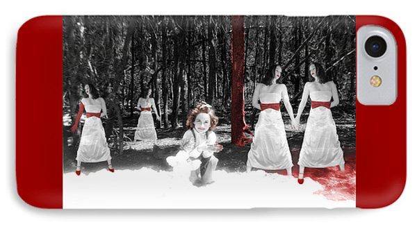 Red Stains - Self Portrait IPhone Case by Jaeda DeWalt