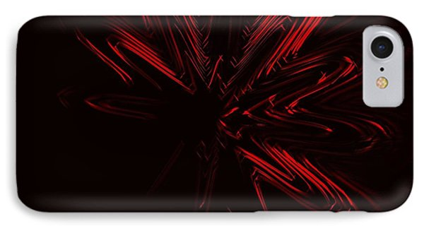 Red Star IPhone Case by Contemporary Art