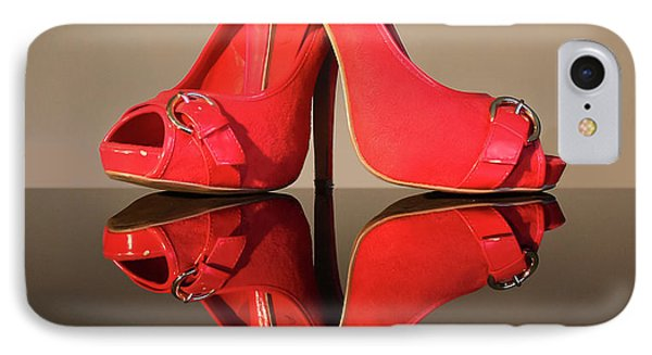 IPhone Case featuring the photograph Red Stiletto Shoes by Terri Waters