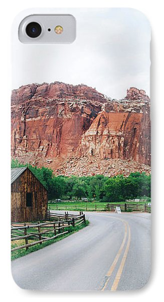 Red Stone Mountain  IPhone Case by Happy Home Artistry