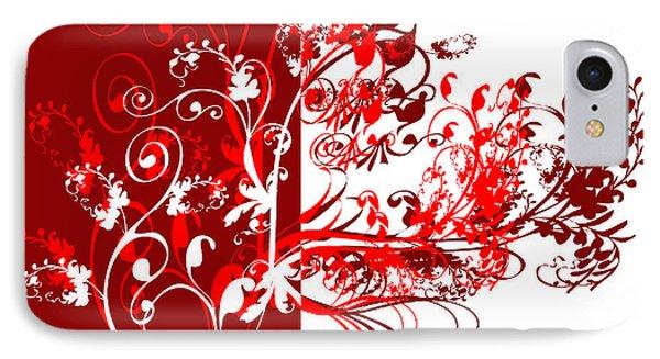 Red Swirl Phone Case by Svetlana Sewell