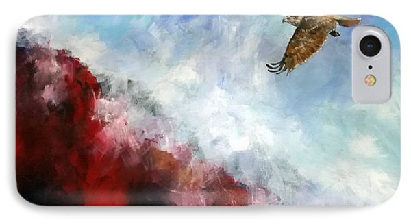 IPhone Case featuring the painting Red Tail by David  Maynard