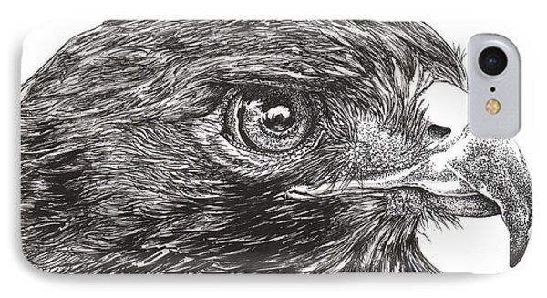 Red Tail Hawk Phone Case by Kathleen Kelly Thompson