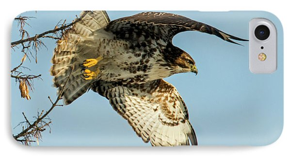 Red-tail  Takeoff IPhone Case by Mike Dawson