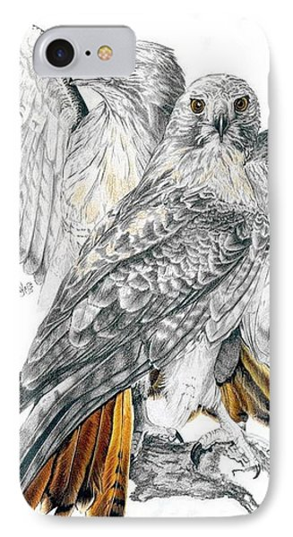 Red-tailed Hawk IPhone Case by Barbara Keith