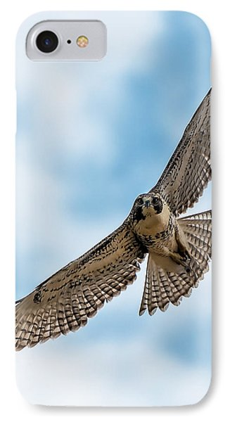 Red-tailed Hawk Coming At Me IPhone Case